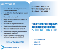 The office des personnes handicapées du Québec is there for you!