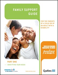 """Family Support Guide"" ""For the parents of a child or adult with a disability"""